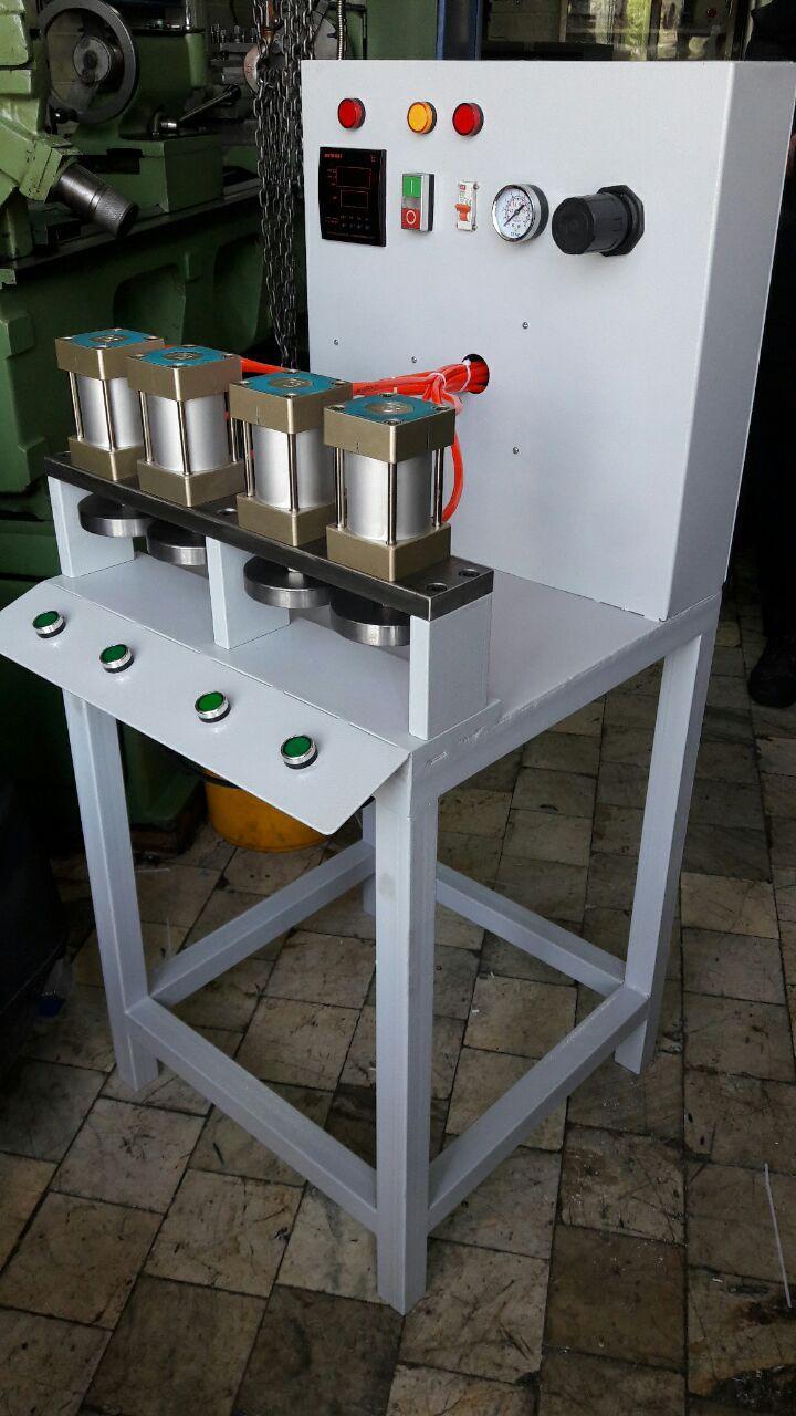 عکس دستگاه پرس پنوماتیک مخصوص خط تولید لقمه سنگ