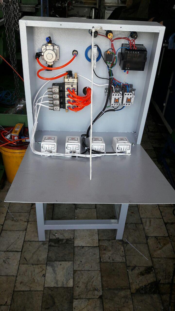 عکس تابلو برق دستگاه پرس پنوماتیک مخصوص خط تولید لقمه سنگ